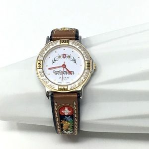 Accessories - Vintage Zeno Swiss Made Watch w/Embroidered Band